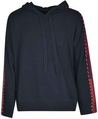 Liu Jo Laneus Patterned Sleeves Hoodie