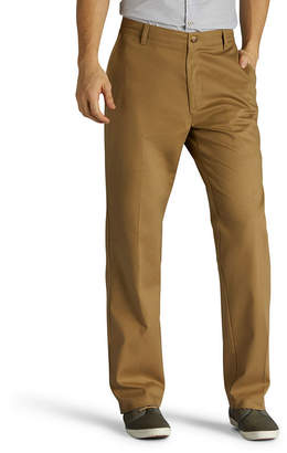 Lee Total Freedom Khaki Relax Fit Mens Relaxed Fit Flat Front Pant-Big and Tall