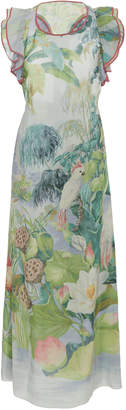 RED Valentino Mexican Landscape Printed Silk Dress