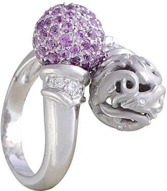 Carrera y Certified Y 18K 2.35 Ct. Tw. Diamond & Pink Sapphire Ring