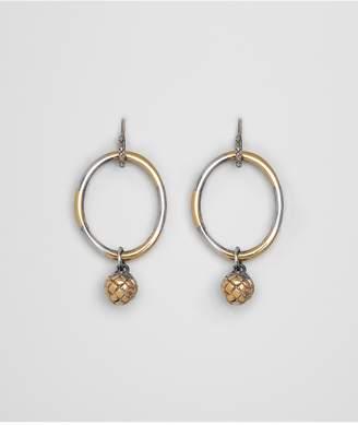 Bottega Veneta Antique Silver/Yellow Gold Patina Dichotomy Earing
