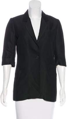 Elizabeth and James Structured Short Sleeve Blazer