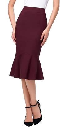Kain Label Kate Kasin Women High Waist Vintage Bodycon Pencil Skirts K241-2