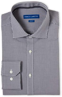 Vince Camuto Grey Check Slim Fit Dress Shirt