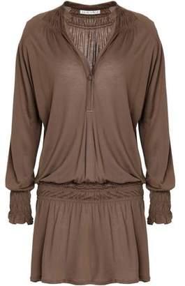 Heidi Klein Shirred Modal-Jersey Mini Dress