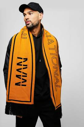 boohoo MAN International Knit Scarf