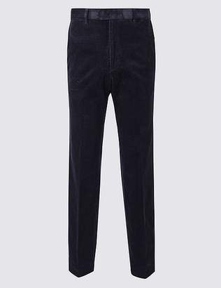 Marks and Spencer Tailored Fit Corduroy Trousers with Stretch