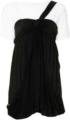 We11done one shoulder twisted knot dress