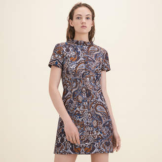 Maje Jacquard straight-cut dress