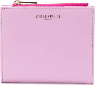 Emilio Pucci logo stamp billfold purse