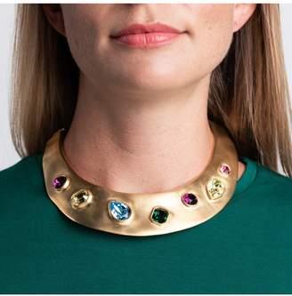 Kenneth Jay Lane Pastel Gemstone Collar Necklace