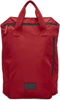 Y-3 Red Packable Logo Backpack