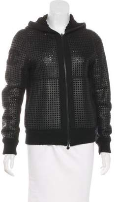 Chanel Perforated Shearling Jacket