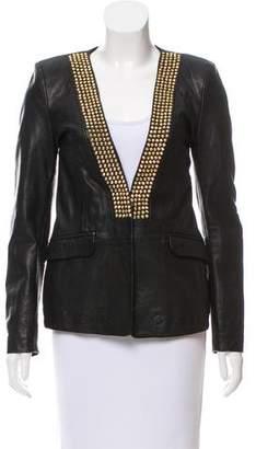 Pierre Balmain Studded Leather Blazer