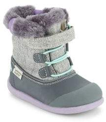 See Kai Run Baby's& Toddler's Faux Fur Collar Waterproof Boots