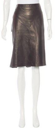 Jean Paul Gaultier Pleated Leather Skirt $230 thestylecure.com