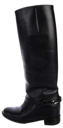 Christian Louboutin Leather Knee-High Boots Black Leather Knee-High Boots