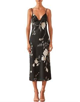 Shona Joy Rylant Bias Slip Midi Dress