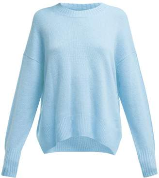 Allude Round Neck Cashmere Sweater - Womens - Blue