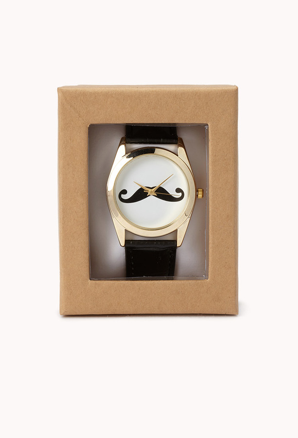 Forever 21 Quirky Mustache Watch