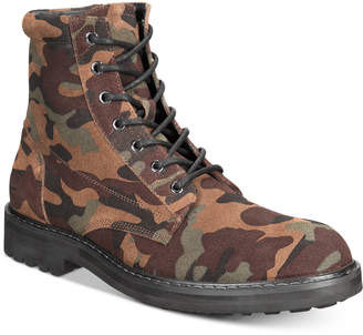 INC International Concepts I.n.c. Men Wilder Camo Boots, Men Shoes