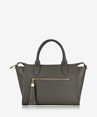 GiGi New York Grace Satchel, Anthracite Pebble Grain Leather