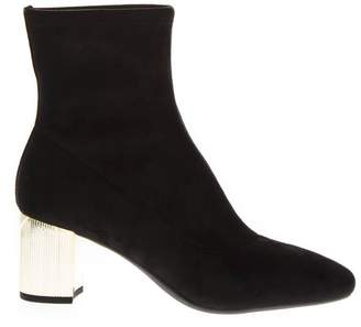 MICHAEL Michael Kors Paloma Black Leather Ankle Boot