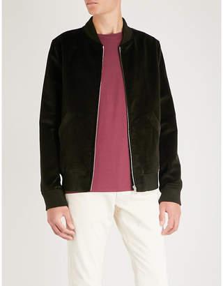 A.P.C. Barett cotton and linen-blend bomber jacket