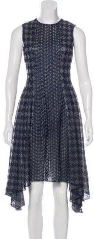 Christian Dior Houndstooth A-Line Dress