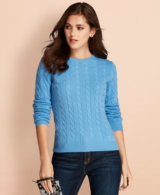b680cbedb5f Light Blue Cable Knit Sweater - ShopStyle
