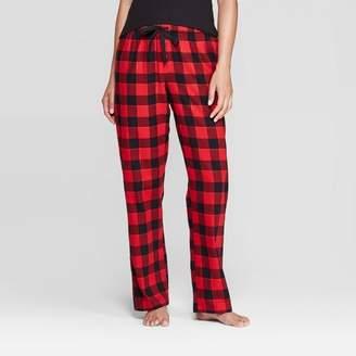 Buffalo David Bitton Stars Above Women's Plaid Perfectly Cozy Flannel Pajama Pants - Stars Above Red