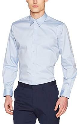 c818d2a6cde Kustom Kit Men s Contrast Premium Oxford Shirt Regular Fit Plain Round  Collar Long Sleeve Dress Shirt