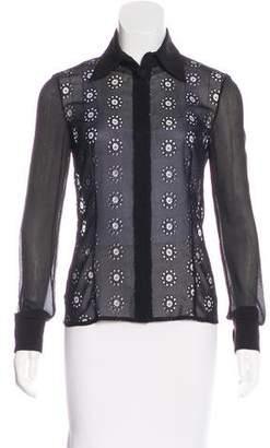 Gianni Versace Silk-Blend Top