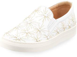 Aquazzura Cosmic Pearl Slip-On Sneaker, Toddler/Youth