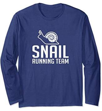 Snail Running Team Jogger Athletic Funny Long Sleeve Tee