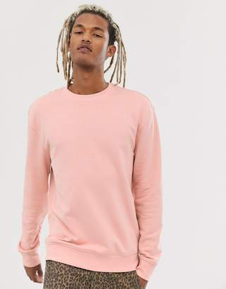 New Look drop shoulder sweat in light pink