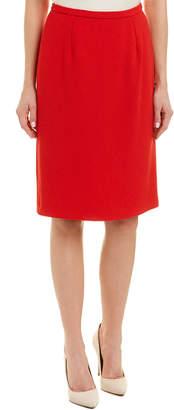 Oscar de la Renta Silk-Lined Wool Skirt