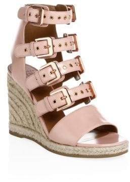 Laurence Dacade Rosario Shiny Leather Wedge Sandals