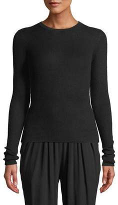 Michael Kors Crewneck Long-Sleeve Featherweight Cashmere Sweater
