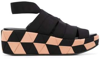 Salvatore Ferragamo grosgrain wedge sandals