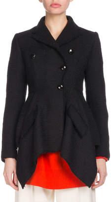 Proenza Schouler Asymmetric Button-Front Cotton Tweed Jacket