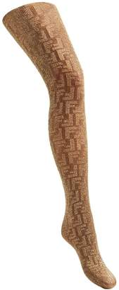 Fendi embroidered FF logo tights
