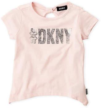 DKNY Toddler Girls) Foil Hashtag Logo Top