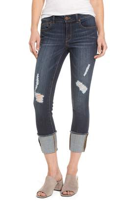 1822 Denim Distressed Roll Cuff Jeans