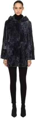 Drome Hooded Reversible Fur Coat