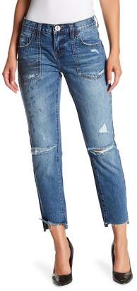 One Teaspoon Awesome Baggies Raw Step Hem Jeans