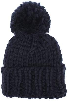 Elezay Winter Warm Chunky Knit Beanie Skully Ski Cap with Pom 467dbd59d00f