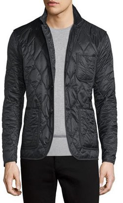 Burberry Gillington Quilted Jacket, Black $595 thestylecure.com