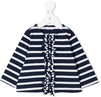 Il Gufo striped fringed cardigan