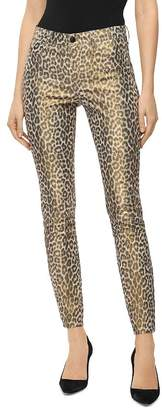 J Brand Stretch Leather Pants in Jaguar Print